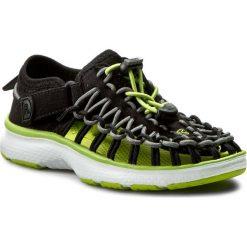 Sandały KEEN - Uneek 02 1015500 Black/Macaw. Czarne sandały chłopięce Keen, z materiału. W wyprzedaży za 169,00 zł.