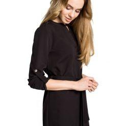 Sukienka koszulowa moe361. Czarne sukienki hiszpanki Moe, s, z koszulowym kołnierzykiem, koszulowe. Za 139,00 zł.