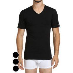 T-shirty męskie: T-shirt (3 szt.) w kolorze czarnym