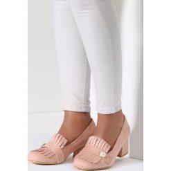 Buty ślubne damskie: Różowe Czółenka Plethora