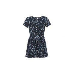 Sukienki krótkie Kaporal  SAKUR. Niebieskie sukienki mini Kaporal, l, z krótkim rękawem. Za 239,20 zł.