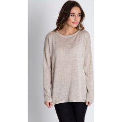 Sweter w kolorze ecru z długim rękawem BIALCON. Brązowe swetry klasyczne damskie marki BIALCON, na jesień, m, z futra. W wyprzedaży za 97,00 zł.