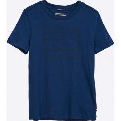Tommy Hilfiger - T-shirt dziecięcy 122-176 cm. Szare t-shirty chłopięce z nadrukiem marki bonprix, m, z dzianiny, z kontrastowym kołnierzykiem. Za 99,90 zł.