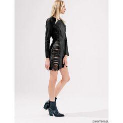 Sukienki hiszpanki: Sukienka skórzana ZULU czarna