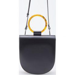 Torebka z okrągłym uchwytem - Czarny. Czarne torebki klasyczne damskie Reserved. Za 129,99 zł.