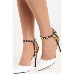 Białe Sandały Kings and Queens. Białe sandały damskie marki Born2be, w paski, na wysokim obcasie, na szpilce. Za 79,99 zł.