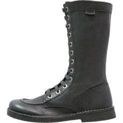 Buty zimowe damskie: Kickers MEETKIKNEW Kozaki sznurowane black
