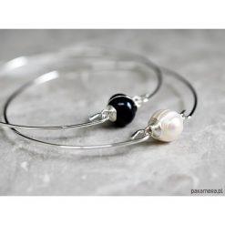 Biżuteria i zegarki: Bransoletki z perłą słodkowodną dwupak 2 szt
