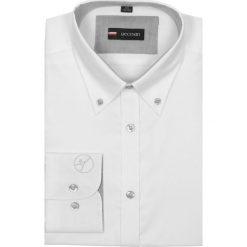 Koszule męskie na spinki: koszula davis 1565 długi rękaw slim fit biały