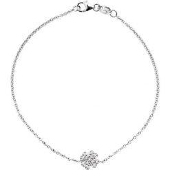 Bransoletki damskie: Złota bransoletka z diamentami