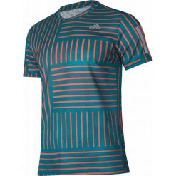 Koszulki sportowe męskie: Adidas Koszulka biegowa Response Print M Zielona r. M – (BS4682)