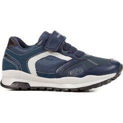 """Sneakersy """"Coridan"""" w kolorze granatowym. Niebieskie trampki chłopięce marki geox kids, z gumy. W wyprzedaży za 125,95 zł."""