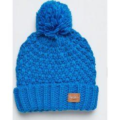 Pepe Jeans - Czapka. Niebieskie czapki zimowe damskie marki Pepe Jeans, na zimę, z dzianiny. W wyprzedaży za 99,90 zł.