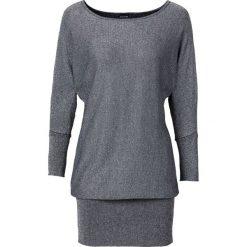 Sweter z lureksową nitką bonprix srebrny. Zielone swetry klasyczne damskie marki bonprix, w kropki, z kopertowym dekoltem, kopertowe. Za 59,99 zł.