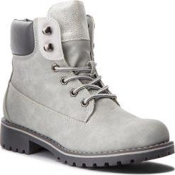 Trapery JENNY FAIRY - WS722-28B Grey. Szare buty zimowe damskie Jenny Fairy, ze skóry ekologicznej. Za 129,99 zł.