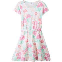 Sukienki dziewczęce: Sukienka bonprix biel wełny z nadrukiem