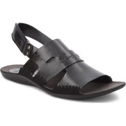 Sandały NIK - 06-0347-01-7-01-03 Czarny. Czarne sandały męskie skórzane Nik. W wyprzedaży za 159,00 zł.