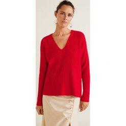Mango - Sweter Orion. Czerwone swetry klasyczne damskie marki Mango, l, z dzianiny. Za 139,90 zł.