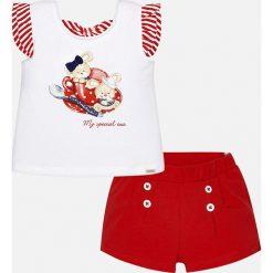 Mayoral - Komplet dziecięcy (top + szorty) 68-98 cm. Czarne bluzki dziewczęce bawełniane marki bonprix, z nadrukiem. Za 99,90 zł.