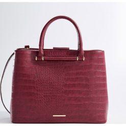 Torba z odpinanym paskiem - Bordowy. Czerwone torebki klasyczne damskie marki Reserved, duże. Za 139,99 zł.
