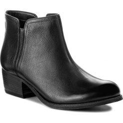 Botki CLARKS - Maypearl Ramie 261294864 Black Leather. Czarne botki damskie skórzane Clarks. W wyprzedaży za 309,00 zł.