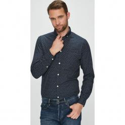 Jack & Jones - Koszula. Czarne koszule męskie na spinki Jack & Jones, l, z bawełny, button down, z długim rękawem. W wyprzedaży za 89,90 zł.