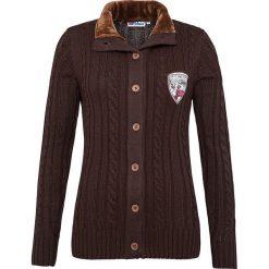 """Sweter rozpinany """"Acira"""" w kolorze brązowym. Brązowe kardigany damskie Nebulus, s, z dzianiny. W wyprzedaży za 260,95 zł."""