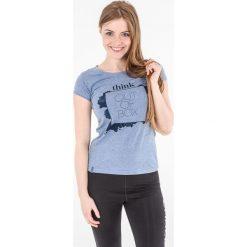 4f Koszulka damska H4L17-TSD003 niebieska r. S. Bluzki asymetryczne 4f, l. Za 39,00 zł.