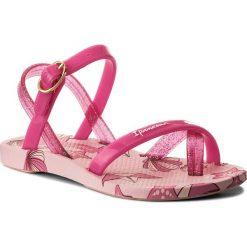 Japonki IPANEMA - Fashion Sand. V Kids 82292 Pink 21532. Czerwone japonki damskie Ipanema, w paski, z tworzywa sztucznego. Za 79,99 zł.