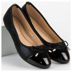 Baleriny damskie lakierowane: Eleganckie baleriny DIAMANTIQUE czarne