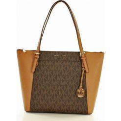 Logowana torebka shopper bag MICHAEL KORS BRN/ACORN. Brązowe kuferki damskie Michael Kors, ze skóry. Za 1199,00 zł.