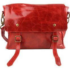 Torebki klasyczne damskie: Skórzana torebka w kolorze czerwonym – 35 x 27 x 18 cm