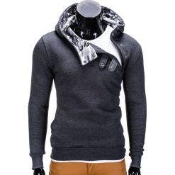BLUZA MĘSKA Z KAPTUREM PACO - GRAFITOWA/MORO. Zielone bluzy męskie rozpinane marki Ombre Clothing, m, moro, z bawełny, z kapturem. Za 69,00 zł.
