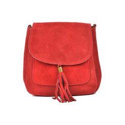 Torebka w kolorze czerwonym - (S)20,5 x (W)20,5 x (G)6 cm. Czerwone torebki klasyczne damskie Bestsellers bags, w paski, z materiału. W wyprzedaży za 149,95 zł.