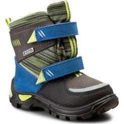 Buty zimowe chłopięce: Śniegowce BARTEK – 91759-0RE Szaro Niebieski
