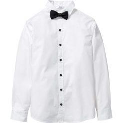 Koszula z muchą bonprix biały. Białe koszule męskie na spinki marki Reserved, l. Za 69,99 zł.