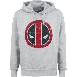 Deadpool Logo Bluza z kapturem odcienie szarego. Szare bluzy męskie rozpinane Deadpool, l, z nadrukiem, z kapturem. Za 144,90 zł.