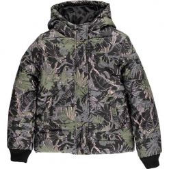 Kurtka zimowa w kolorze zielonym. Zielone kurtki dziewczęce zimowe marki Esprit, prążkowane. W wyprzedaży za 192,95 zł.