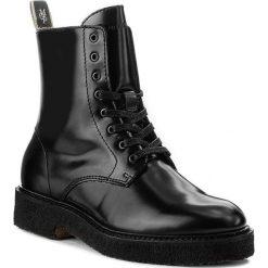 Botki MARC O'POLO - 708 14266301 112 Black 990. Czarne buty zimowe damskie Marc O'Polo, z materiału, na obcasie. W wyprzedaży za 469,00 zł.