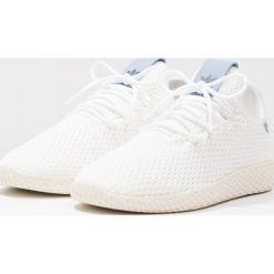 Adidas Originals PW TENNIS HU Tenisówki i Trampki white/tactile blue. Białe tenisówki damskie marki adidas Originals, z materiału. W wyprzedaży za 279,30 zł.