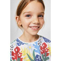 Mango Kids - Top dziecięcy Bigh 110-164 cm. Różowe bluzki dziewczęce marki Mayoral, z bawełny, z okrągłym kołnierzem. Za 35,90 zł.