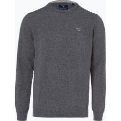 Gant - Sweter męski, szary. Szare swetry klasyczne męskie GANT, l, z haftami, z wełny. Za 449,95 zł.