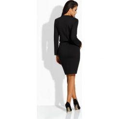 Długie sukienki: Kobieca elegancka sukienka czarna