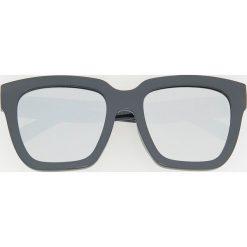 Okulary przeciwsłoneczne - Szary. Szare okulary przeciwsłoneczne męskie aviatory Reserved. Za 49,99 zł.
