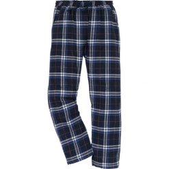 Spodnie piżamowe z flaneli bonprix w kratę. Szare piżamy męskie bonprix, l, w paski. Za 44,99 zł.
