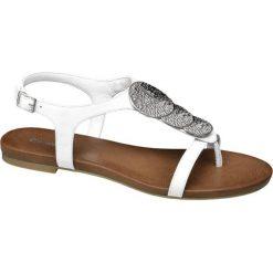 Rzymianki damskie: sandały damskie Graceland białe