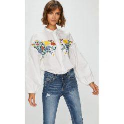 Medicine - Koszula Suffron Spice. Szare koszule wiązane damskie MEDICINE, l, z haftami, z bawełny, casualowe, ze stójką, z długim rękawem. W wyprzedaży za 69,90 zł.
