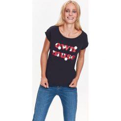 T-SHIRT KRÓTKI RĘKAW DAMSKI WE WZORY, Z NADRUKIEM, Z PRINTEM. Szare t-shirty damskie marki Top Secret, z nadrukiem, z bawełny. Za 19,99 zł.