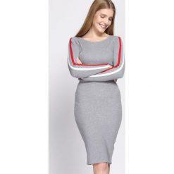 Sukienki: Jasnoszara Sukienka Rita