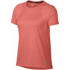 Nike Koszulka Biegowa Damska W Nk Run Top Ss, Crimson Pulse S. Czarne bluzki sportowe damskie marki Nike, xs, z bawełny. Za 89,00 zł.